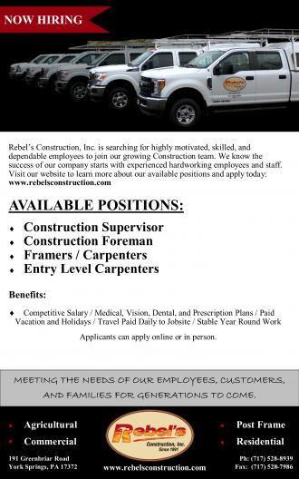 Employment | Rebels Construction